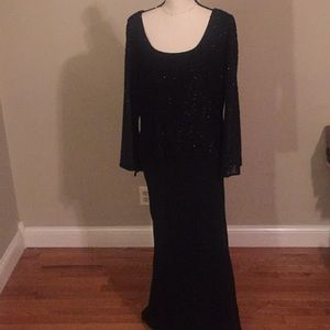 Jkara New York black sparkly formal dress 12
